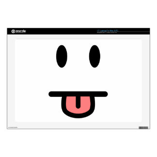 "Tongue Sticking Out Face 17"" Laptop Skin"