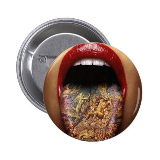 tongue tattoo design button