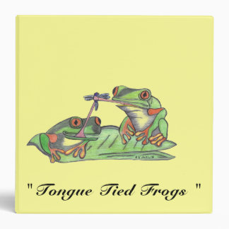 """"""" Tongue Tied Frogs """" Avery Binder"""