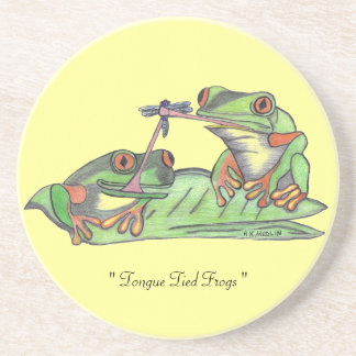 """"""" Tongue Tied Frogs """"...Coaster"""