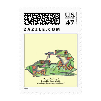 """ Tongue Tied Frogs "" Postage"