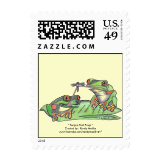 """"""" Tongue Tied Frogs """" Postage"""