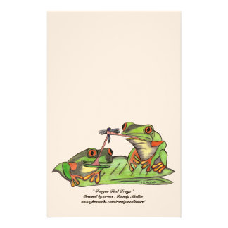 """"""" Tongue Tied Frogs """" Stationery"""