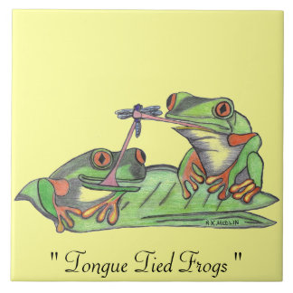 """"""" Tongue Tied Frogs """"...Tile"""