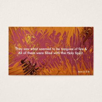 Tongues of Fire Bookmark Business Card