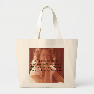toni-2, If life gets too heavyPut your faith in... Jumbo Tote Bag