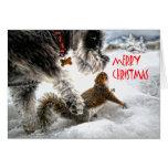 Toni and Lena Merry Christmas Greeting Card