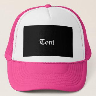 toni print snap back trucker hat
