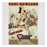Toni Rowland Cat Lady Poster