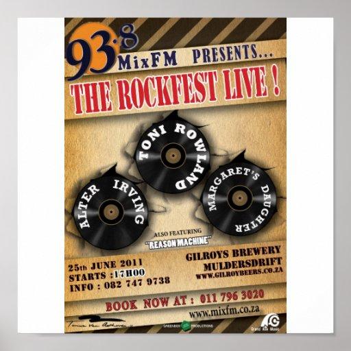 Toni Rowland Rockfest Poster