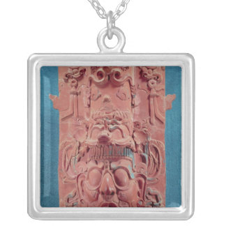 Toniatuh, the Sun God Silver Plated Necklace