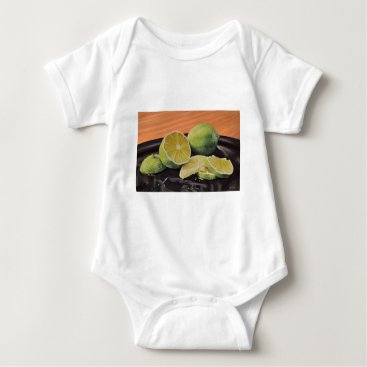 Beach Themed Tonic and Lime Baby Bodysuit