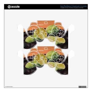 Beach Themed Tonic and Lime Decal For PS3 Controller