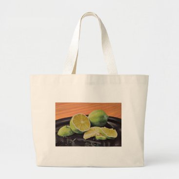 Beach Themed Tonic and Lime Large Tote Bag