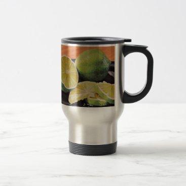Beach Themed Tonic and Lime Travel Mug