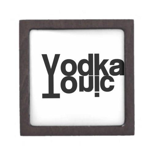 Tónico de la vodka caja de joyas de calidad