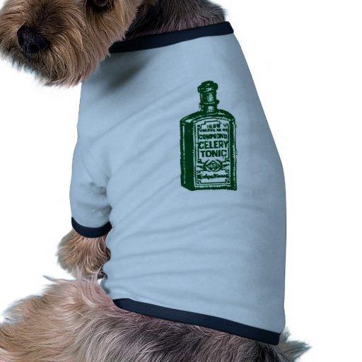 Tónico del apio camiseta con mangas para perro