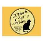 Tónico del gato negro tarjetas postales