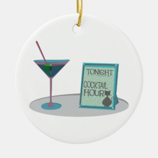 Tonight Cocktail Hour Christmas Ornament