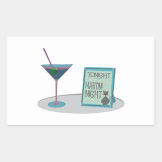 Tonight Martini Night Rectangular Stickers