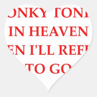 tonk del honky pegatina en forma de corazón