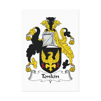 Tonkin Family Crest Stretched Canvas Print