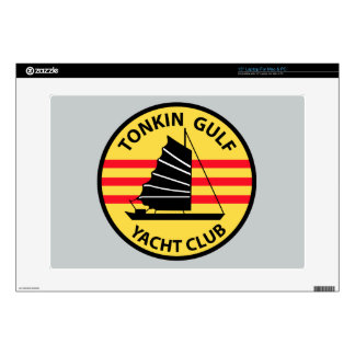"""Tonkin Gulf Yacht Club Decal For 15"""" Laptop"""