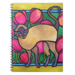 Tonkinese and Tulips Spiral Notebook