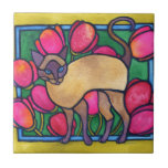 Tonkinese and Tulips Tiles
