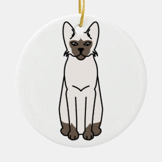 Tonkinese Cat Cartoon Ceramic Ornament