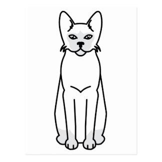 Tonkinese Cat Cartoon Postcard