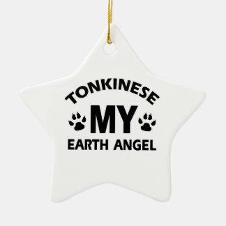 tonkinese cat design ceramic ornament