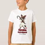 Tonkinese cat with crowbar zombie slayer T-Shirt