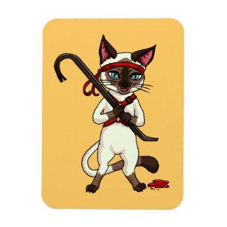 Tonkinese cat Zombie Slayer Rectangular Photo Magnet