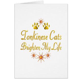 Tonkinese Cats Brighten My Life Card