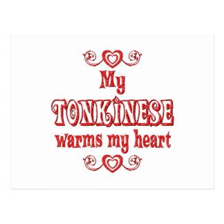 Tonkinese Cats Warm My Heart Postcard