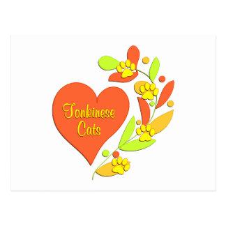 Tonkinese Heart Postcard
