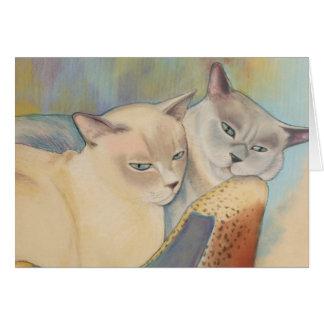 Tonkinese Precious & Romeo Card