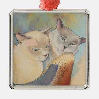 Tonkinese Precious & Romeo Metal Ornament