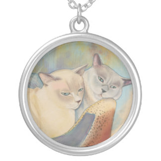 Tonkinese Precious & Romeo Silver Plated Necklace