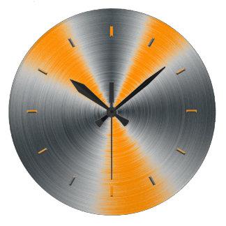 Tono anaranjado de muy buen gusto de entonado de c reloj de pared