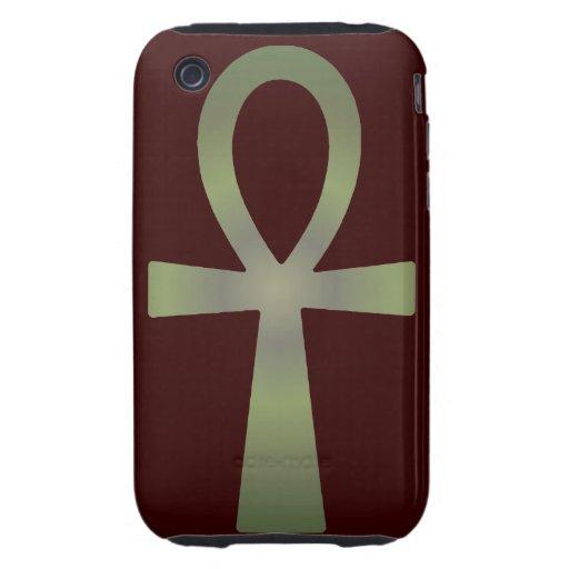 Tono Ankh de la tierra Tough iPhone 3 Protector