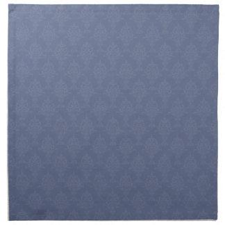 Tono azul del damasco en tono servilleta de papel
