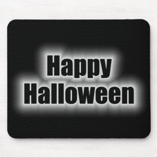 Tono blanco del feliz Halloween Tapete De Raton
