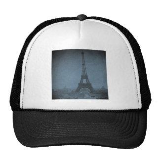 Tono ciánico de Stereoview del vintage de la torre Gorra