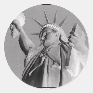 Tono de la libertad pegatina redonda