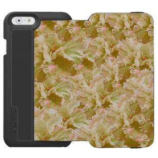 Tono de la tierra del vintage floral funda billetera para iPhone 6 watson