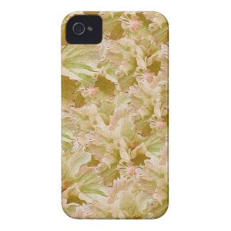 Tono de la tierra del vintage floral funda para iPhone 4 de Case-Mate