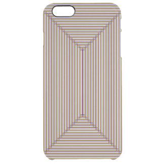 Tono de la tierra tejido funda clear para iPhone 6 plus