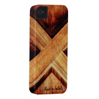 Tono de madera X iPhone 4 Carcasas